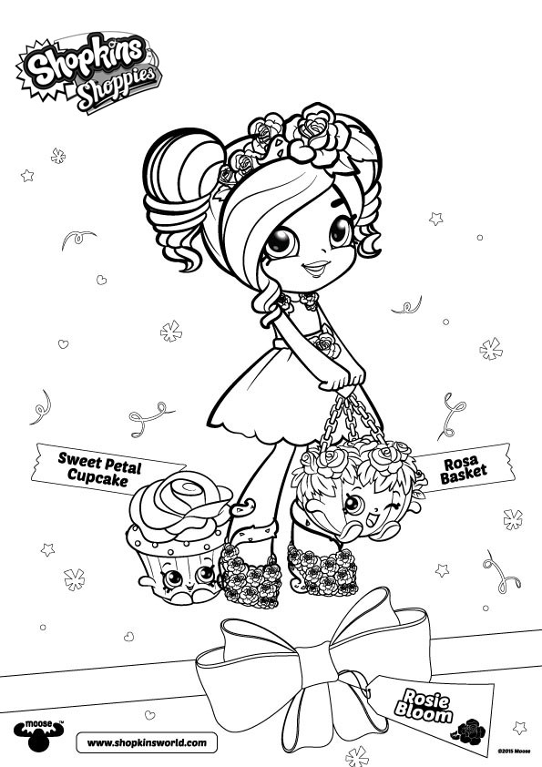Ballet Shopkins Shoppies Coloring Page