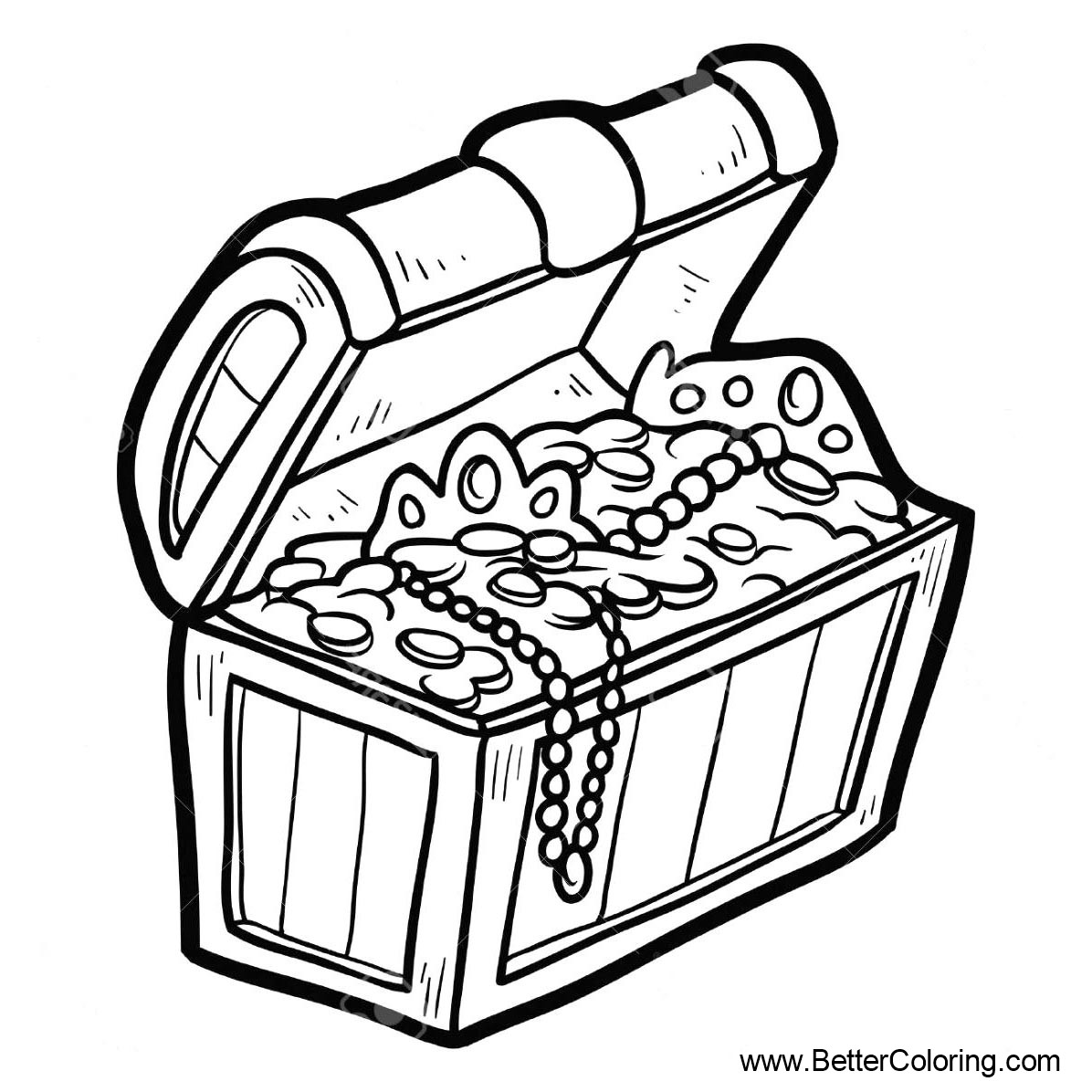 Beach Pages Treasure Chests Coloring Pages