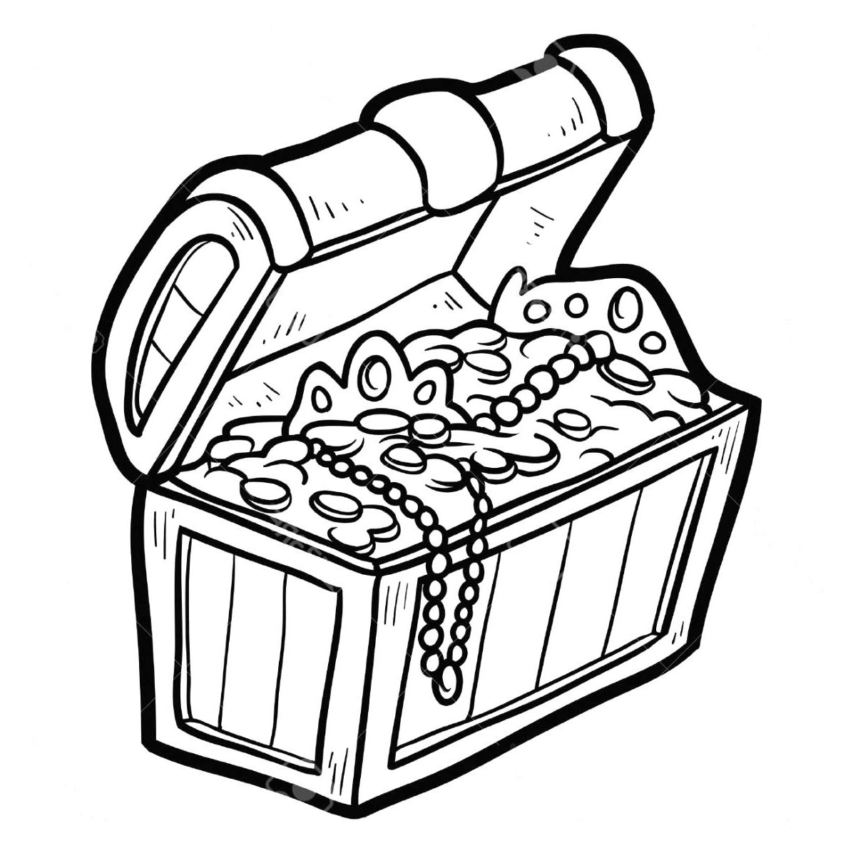 Chest Coloring Pages