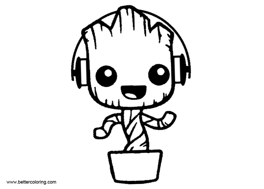 Baby Groot Coloring Pages Coloring Pages 2019