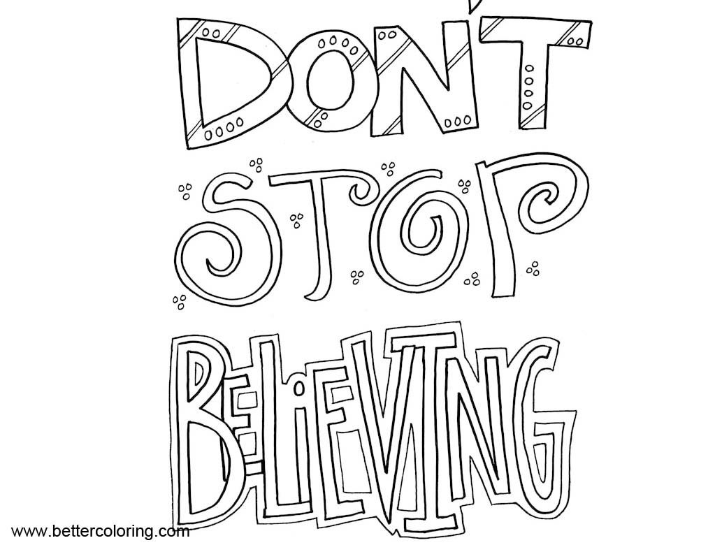 Growth Mindset Quotes Coloring Pages Dont Stop Believing