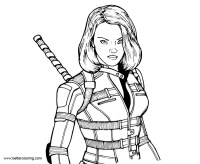 Marvel Super Woman Black Widow Coloring Pages