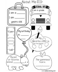 Preschool All About ME Coloring Pages Worksheets - Free ...