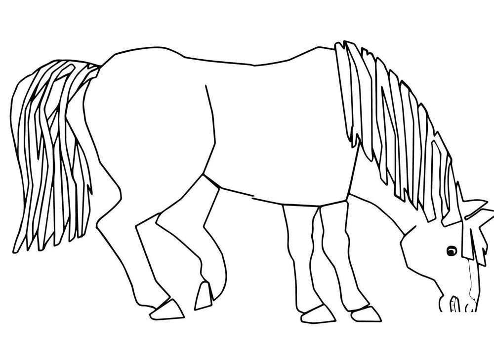 Printable Brown Bear Brown Bear Coloring Pages Blue Horse
