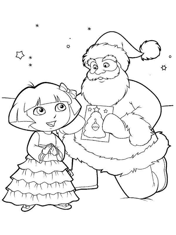 Easy Dora The Explorer Coloring Pages Drawing Pictures