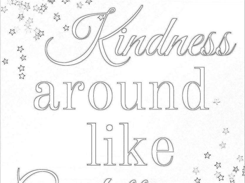 Kindness Coloring Pages Outline Impressive Showing 98