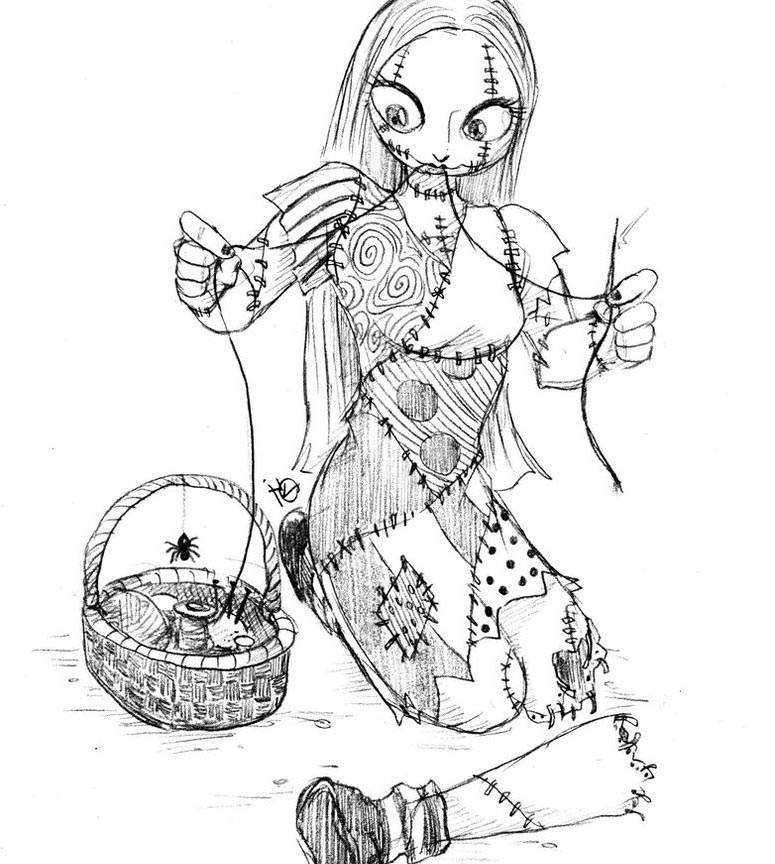 The Nightmare Before Christmas Coloring Pages New for Kids