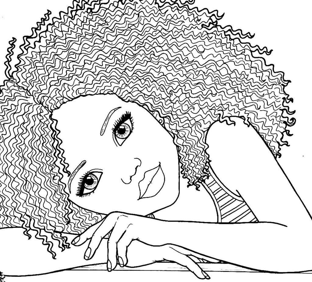 African American Kids Coloring Pages