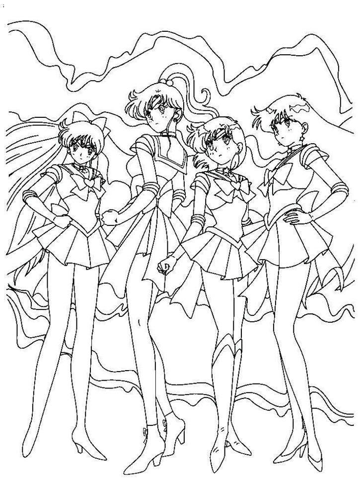 Sailor Moon Coloring Pages Printable Pictures Sailor