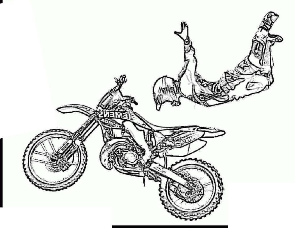Motorcycle Coloring Worksheet