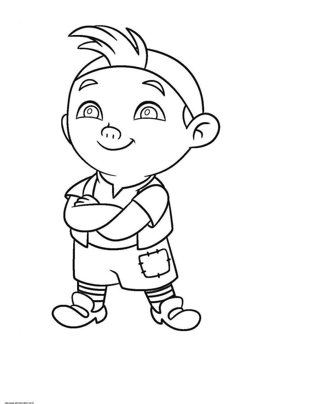 Jake And The Neverland Pirates Coloring Pages Drawing Baby Worksheet