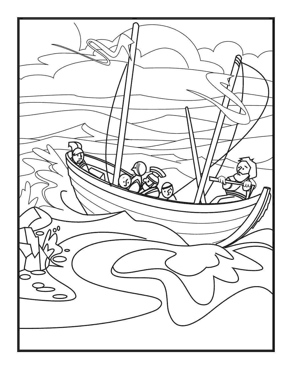 Jesus Calms The Storm Coloring Pages Avaboard Images