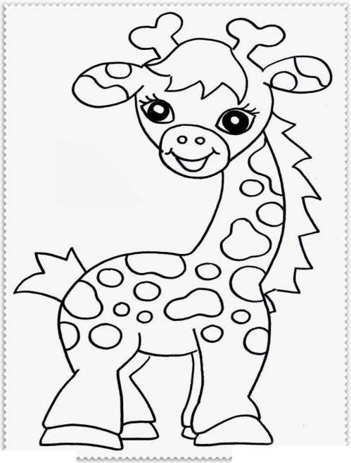 small resolution of jungle animal coloring pages baby animals clipart