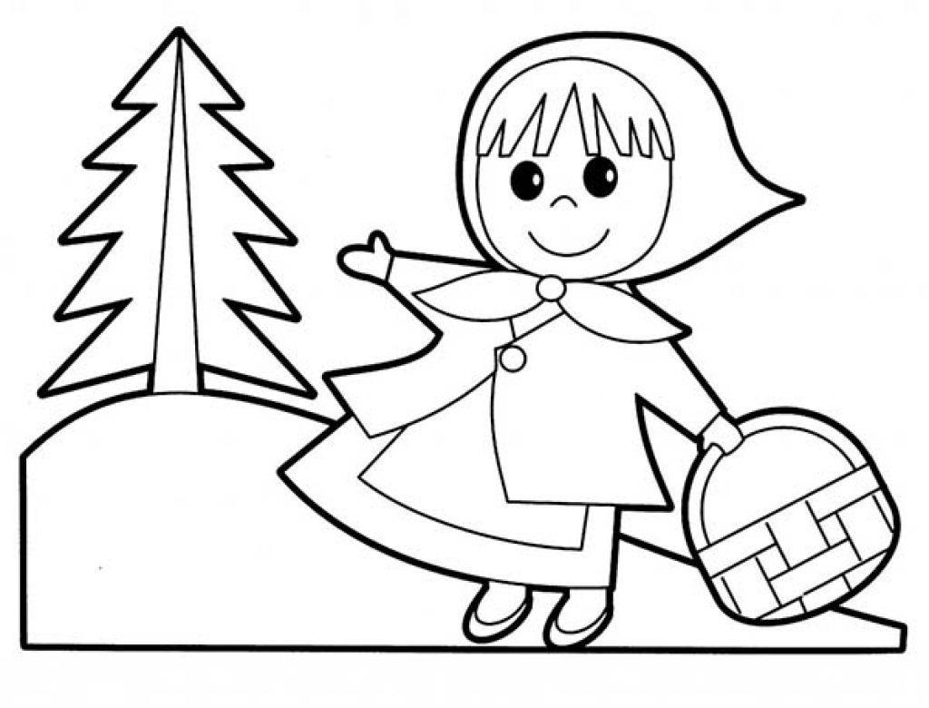 Little Red Riding Hood Coloring Pages Colouring Clipart