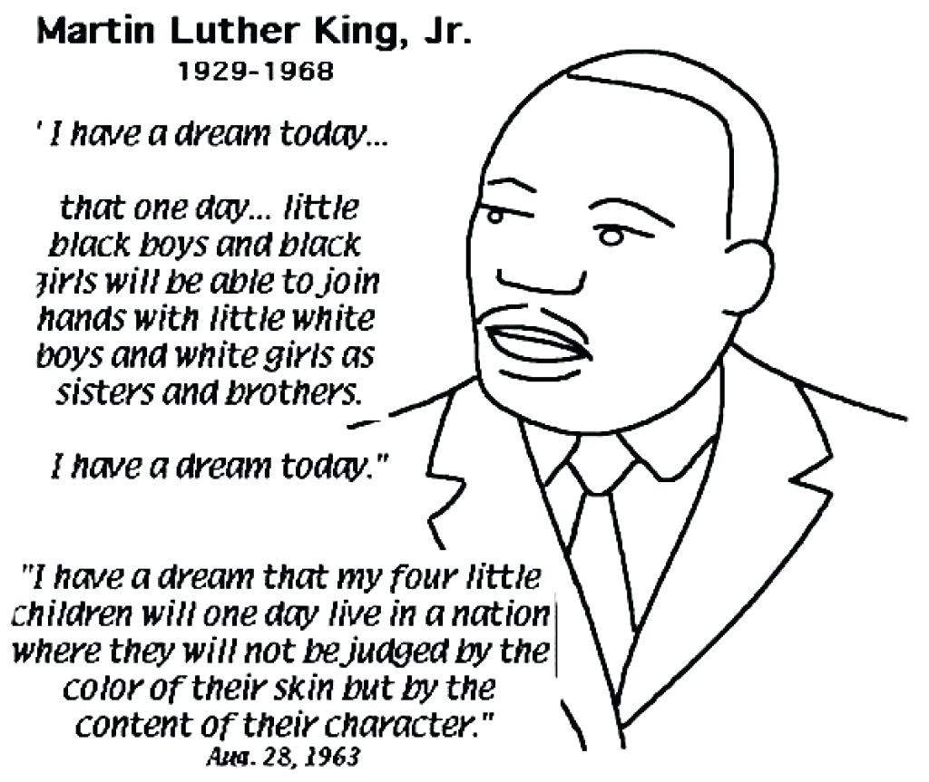 Free Printable Mlk Worksheet