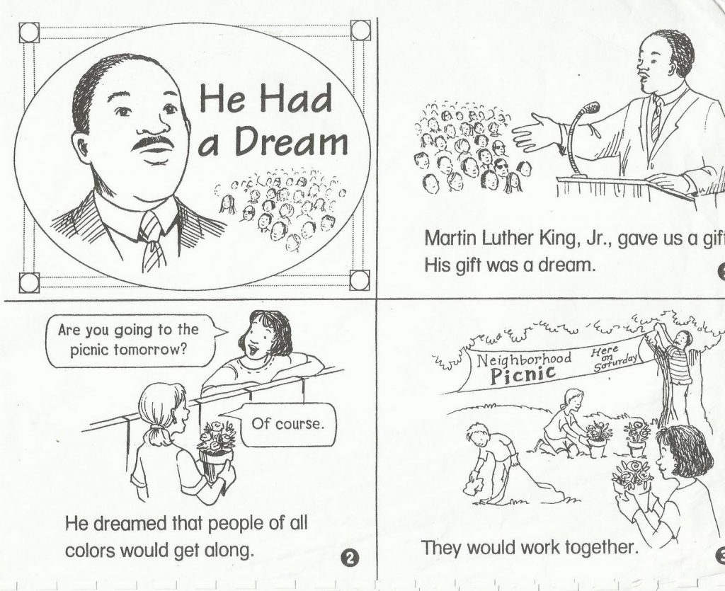 Mlk Worksheet To Print