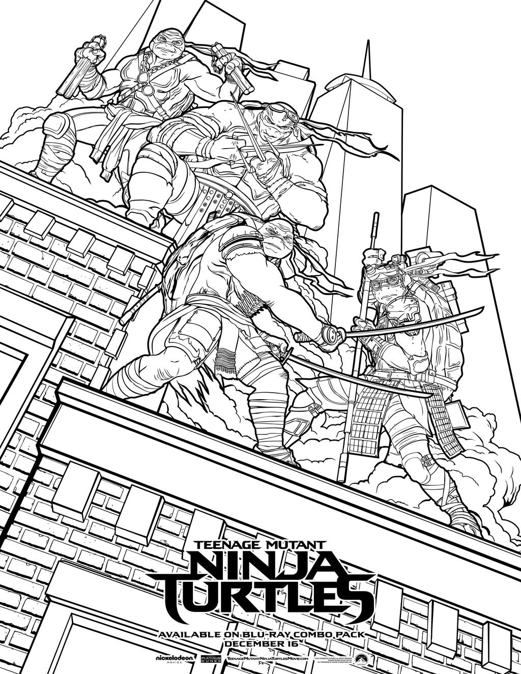 Ninja Turtles Coloring Pages Nickelodeon Valid