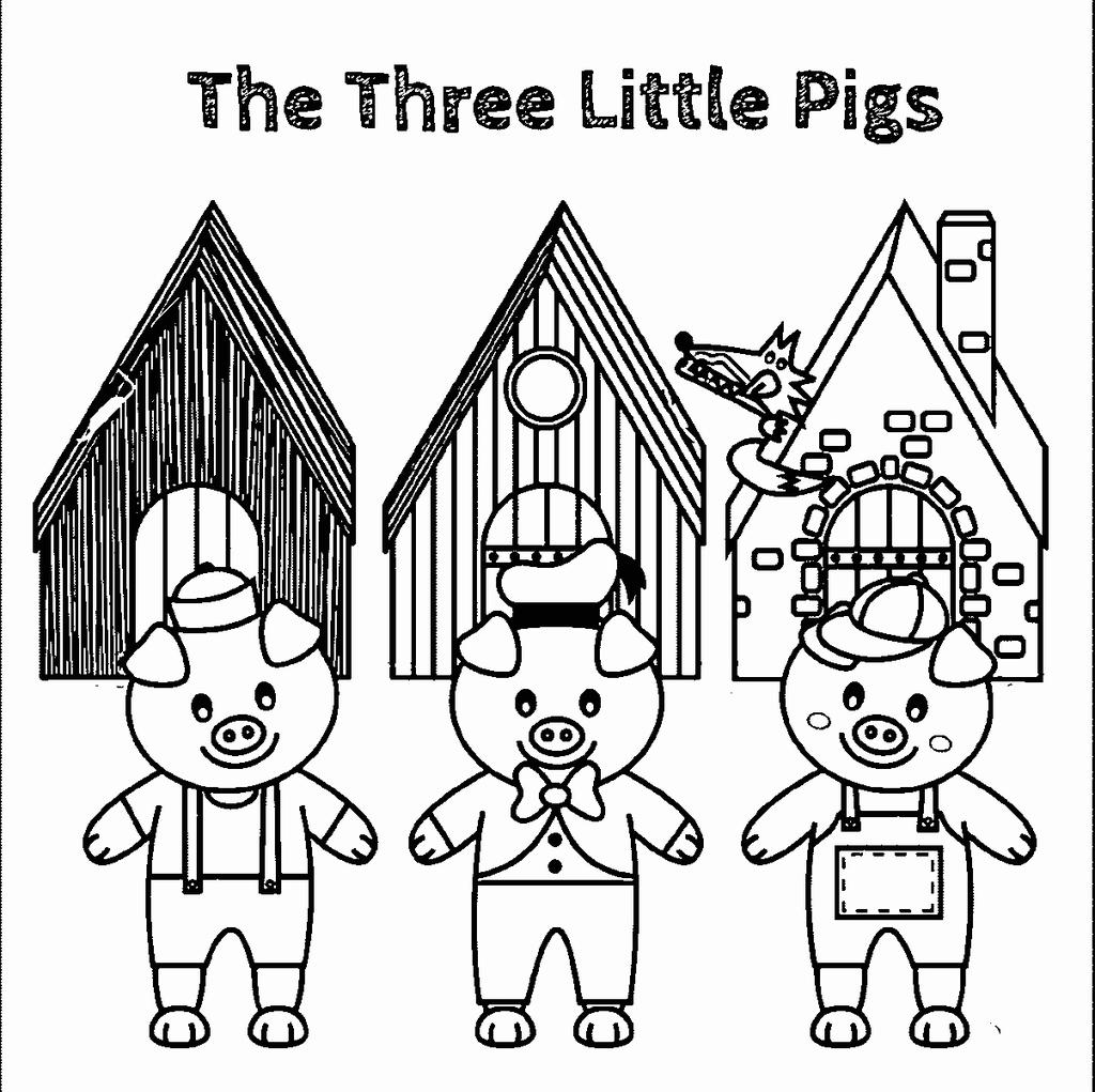 Three Little Pigs Coloring Pages 876 For Boys