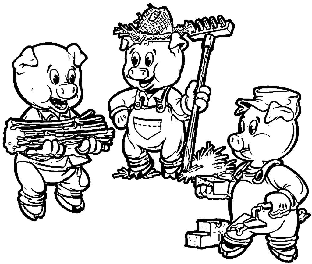 Three Little Pigs Sheet Coloring Pages