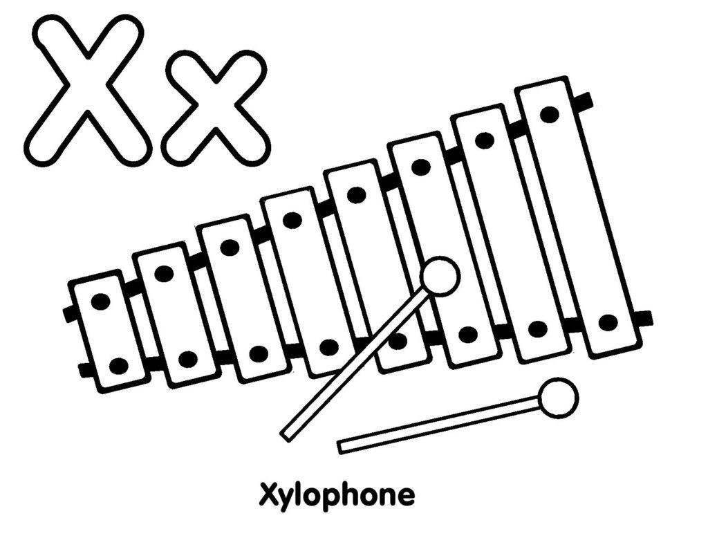 Xylophone Coloring Pages Clipart