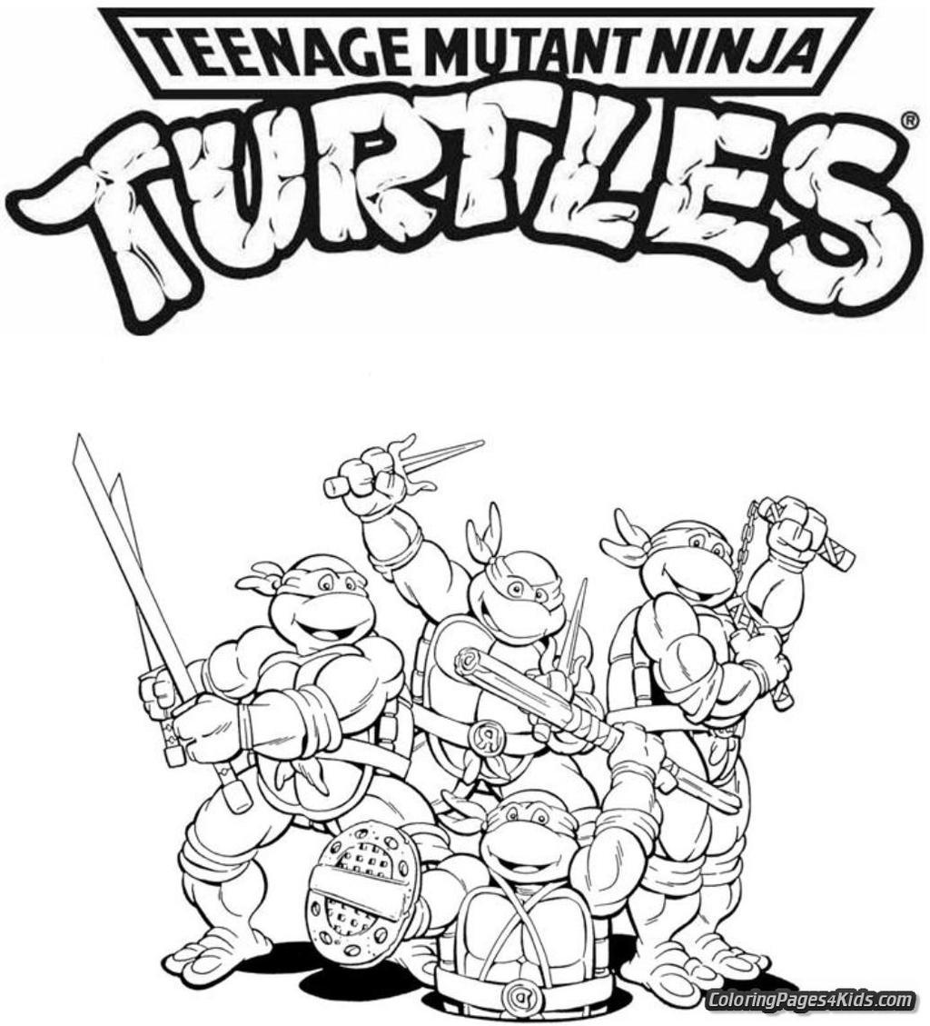 Teenage Mutant Ninja Turtles Coloring Pages 289 Clipart