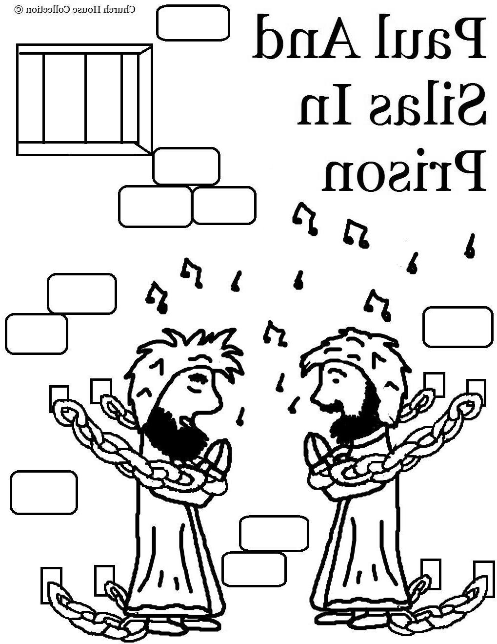 Paul And Silas Singing In Prison Coloring Pages BLT