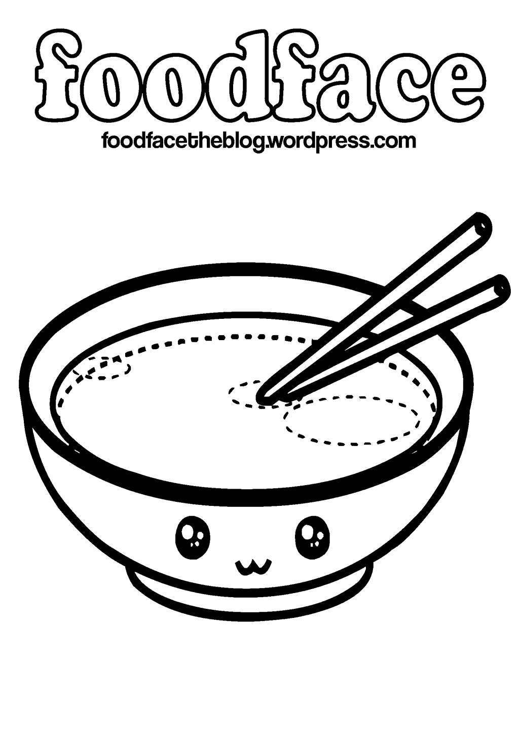 Kawaii Food Coloring Pages Clipart 122