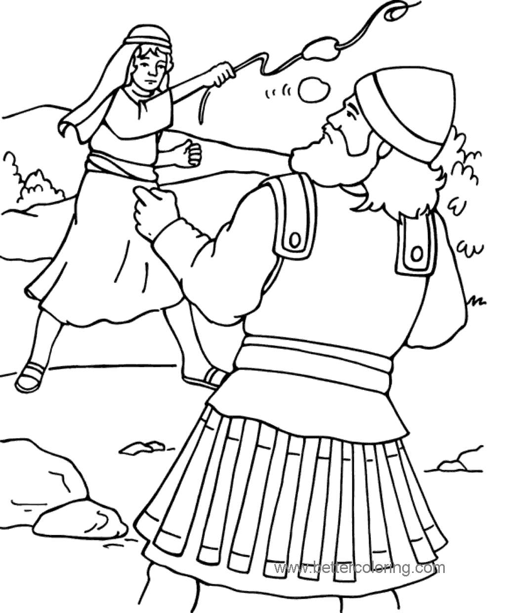 Printable David And Goliath Coloring Pages for Girls 13