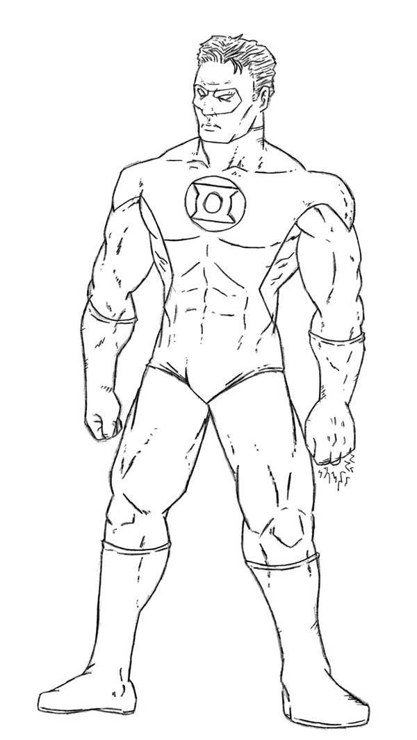 Black and White Green Lantern Coloring Pages Pictures