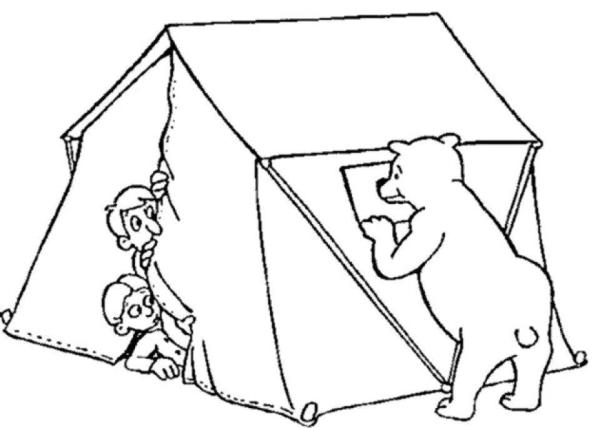 camping coloring page # 73