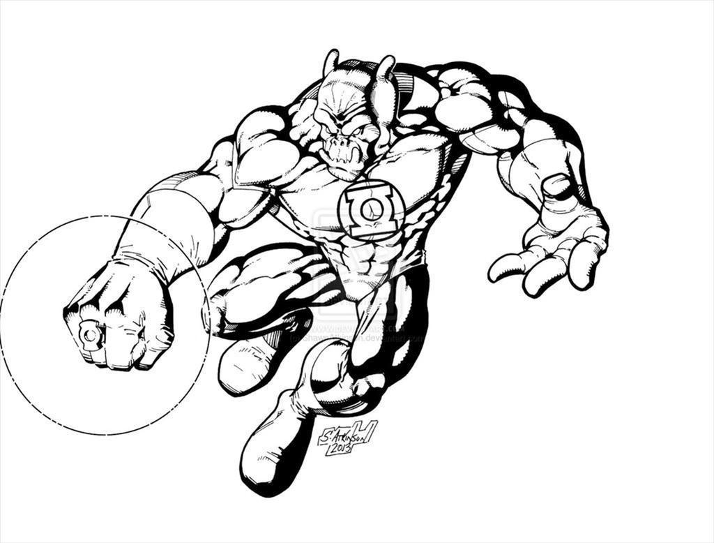 Green Lantern Coloring Pages Worksheet