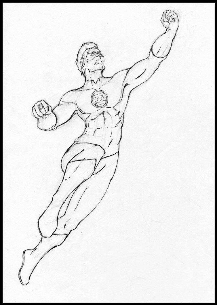 green lantern coloring pages for girls  free printable
