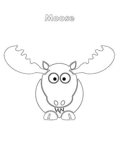 moose coloring page # 46