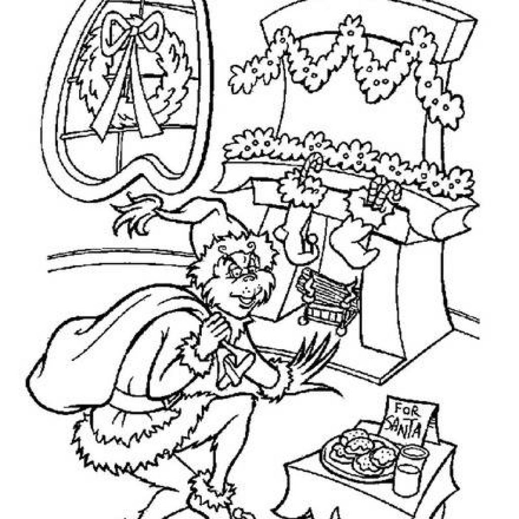 Whoville Coloring Pages Grinch Stole Christmas