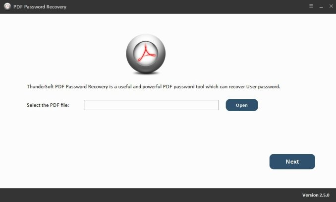 ThunderSoft PDF Password Recovery Crack