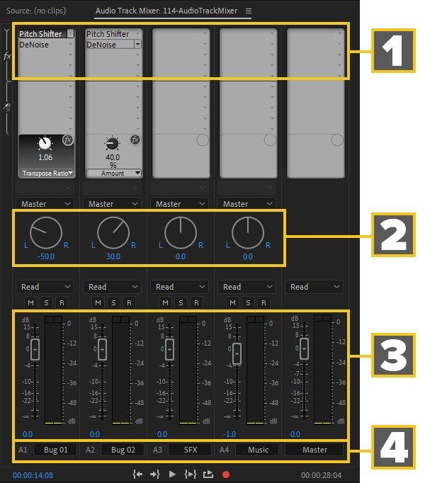 premiere pro audio track mixer diagram