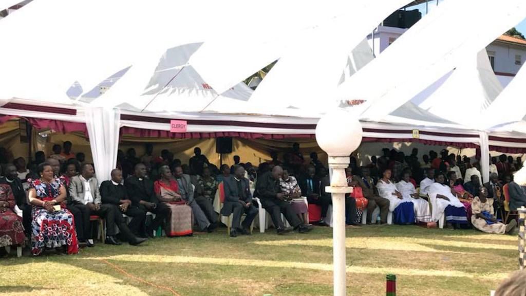 Alla de olika gästerna satt i olika sektioner.