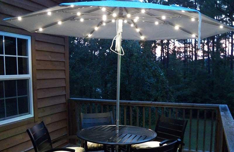 outdoor patio umbrella lighting ideas