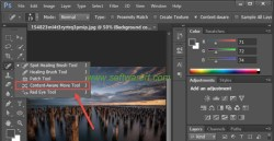 select content-aware move tool in photoshop cs6 for PC