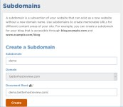 create subdomain on shared server with hostgator