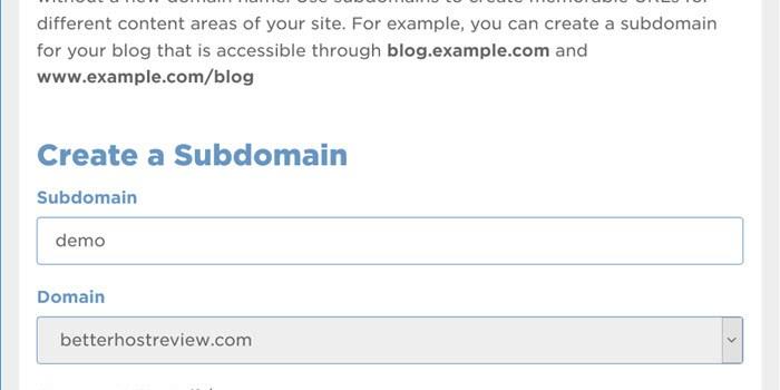 Create a subdomain on Hostgator shared server