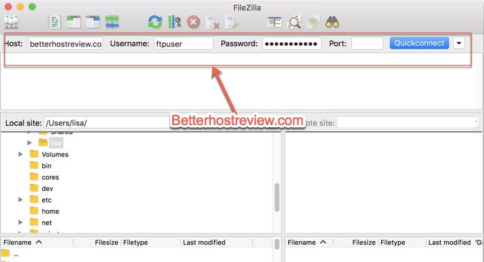 How to connect to FTP server using FileZilla on Mac