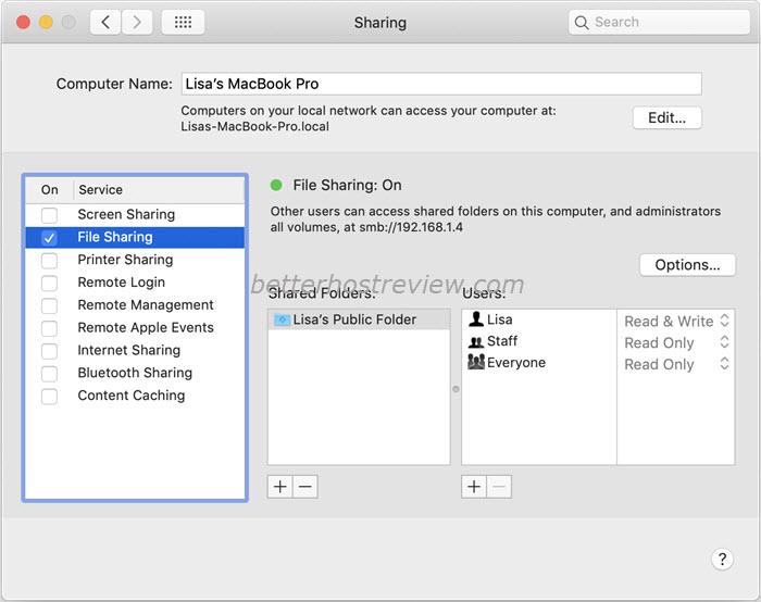 file sharing mac and pc