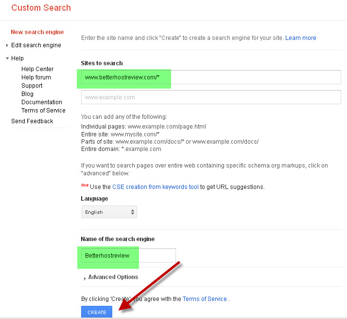 Add Google Custom Search to Website – Better Host Review