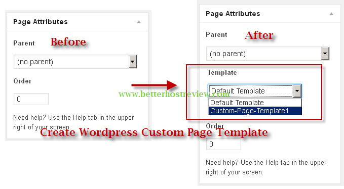 create wordpress custom page template better host review