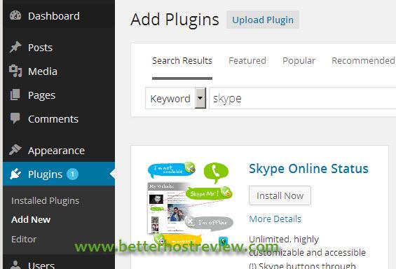 widget on header wordpress