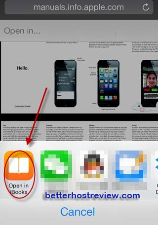 save pdf to ibook on iphone