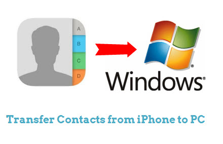 how to put contacts on computer from iphone
