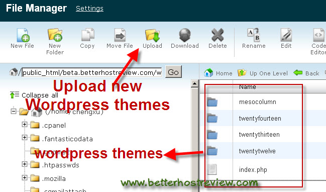 How to install wordpress themes better host review for How to install wordpress template in cpanel