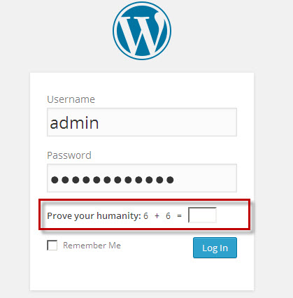 Prove Your Humanity Before Wordpress Login Better Host Review
